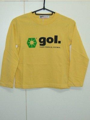 画像1: gol. TODDLER長袖Tシャツ イエロー