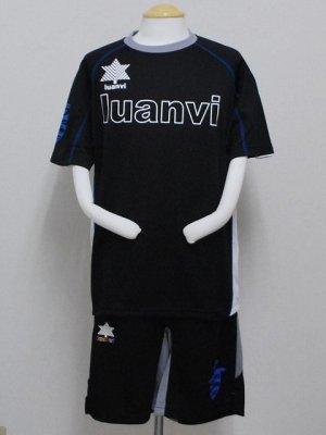 画像1: luanvi プラクティススーツ上下セット ブラック