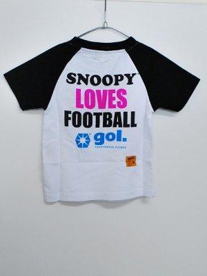 画像2: gol. SNOOPYキッズラグランTシャツ ホワイト×ブラック