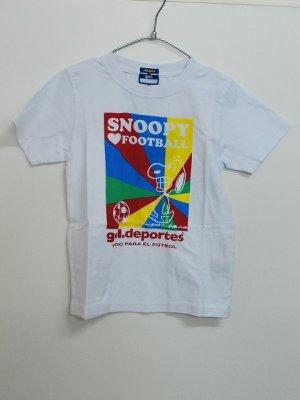 画像1: gol. SNOOPYキッズTシャツ ホワイト