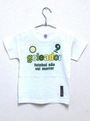 画像1: goleador No.9キッズTシャツ ホワイト