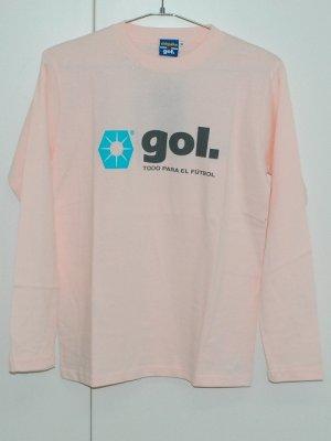 画像1: gol. chiquito長袖Tシャツ ピンク