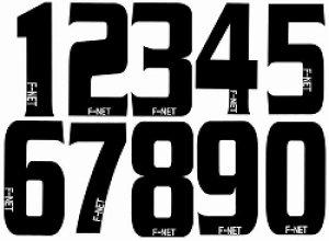 画像1: プリントサービス 背番号F−NETロゴ入り角文字
