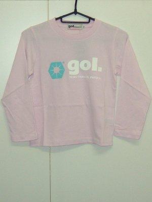 画像1: gol. TODDLER長袖Tシャツ ピンク