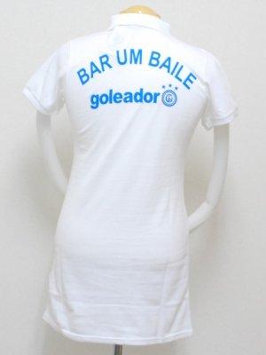 画像2: goleador 鹿の子ロングポロシャツ ホワイト