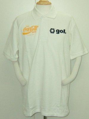 画像1: gol. CocaColaコラボポロシャツ BRASIL ホワイト
