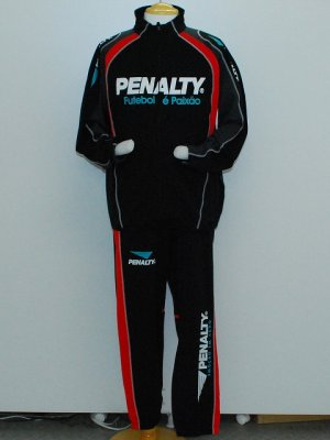 画像1: PENALTY トレーニングジャケット&パンツ ブラック