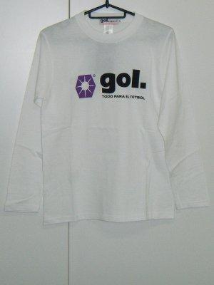 画像1: gol. BOYS長袖Tシャツ ホワイト