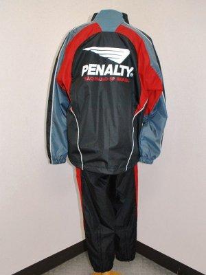画像2: PENALTY 裏メッシュピステスーツ上下セット ブラック×レッド