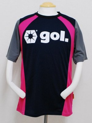 画像1: gol. ストリームラインプラクティスシャツ ネイビー