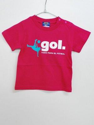画像1: gol. キッズオーバーヘッドTシャツ H.ピンク