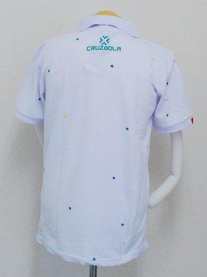 画像2: DalPonte ブラジルカラースターポロシャツ ホワイト
