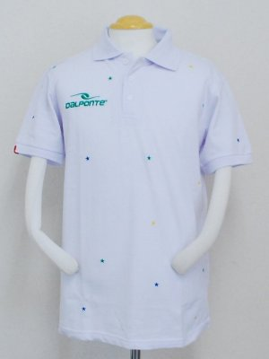 画像1: DalPonte ブラジルカラースターポロシャツ ホワイト