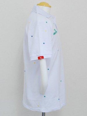 画像3: DalPonte ブラジルカラースターポロシャツ ホワイト