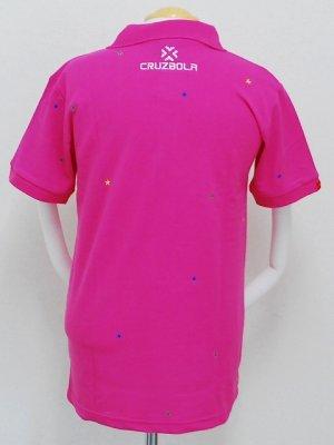 画像2: DalPonte ブラジルカラースターポロシャツ ピンク