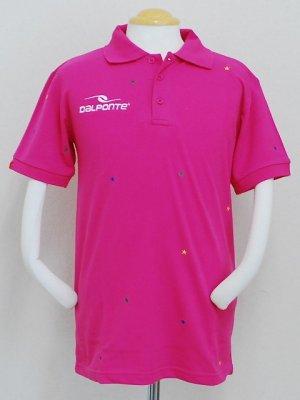 画像1: DalPonte ブラジルカラースターポロシャツ ピンク