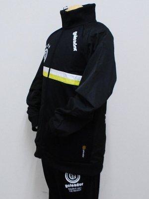 画像3: goleador スムースピステコンビネーションZIPジャケット&パンツ ブラック/ブラック