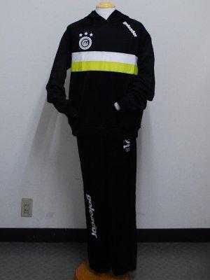 画像1: goleador スムースピステコンビネーションパーカー&パンツ ブラック/ブラック