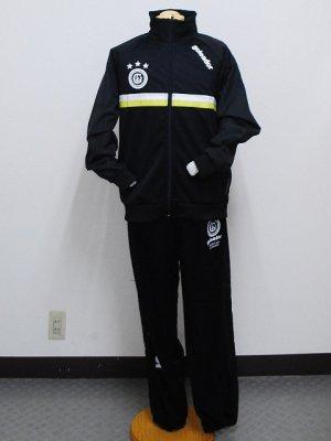 画像1: goleador スムースピステコンビネーションZIPジャケット&パンツ ブラック/ブラック