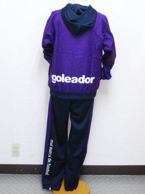 画像2: goleador スムースピステコンビネーションパーカー&パンツ パープル/D.ブルー