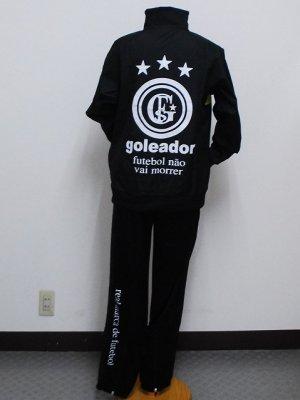 画像2: goleador スムースピステコンビネーションZIPジャケット&パンツ ブラック/ブラック