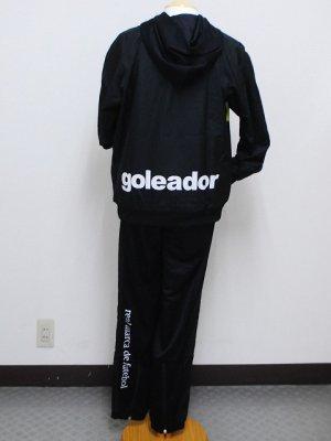 画像2: goleador スムースピステコンビネーションパーカー&パンツ ブラック/ブラック