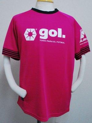 画像1: gol. プラクティスシャツハーフスリーブ ピンク