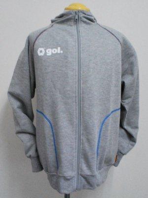 画像1: gol. スウェットフーデッドパーカー グレー