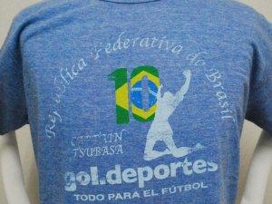 画像2: gol. キャプテン翼コラボ メランジTシャツ ブルー