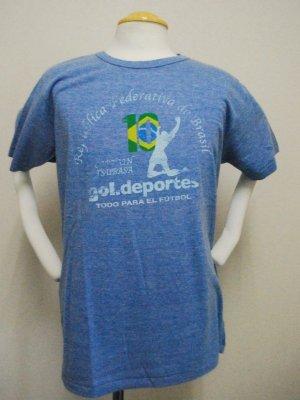 画像1: gol. キャプテン翼コラボ メランジTシャツ ブルー