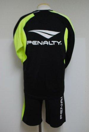 画像2: PENALTY ウーブンプラスーツ・長袖(上下セット) ブラック×Fイエロー