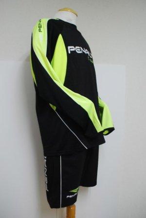 画像3: PENALTY ウーブンプラスーツ・長袖(上下セット) ブラック×Fイエロー