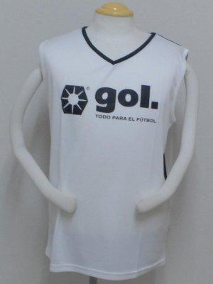 画像1: gol. ノースリーブインナー ホワイト×ブラック