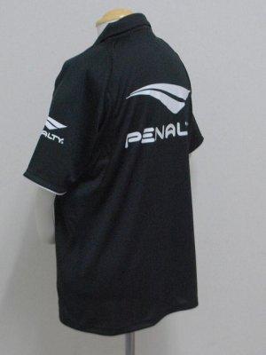 画像3: PENALTY  ジップポロシャツ ブラック