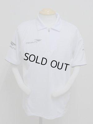 画像1: PENALTY  ジップポロシャツ ホワイト