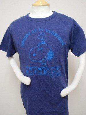 画像1: gol. 別注オリジナルPEANUTS Tシャツ ネイビー
