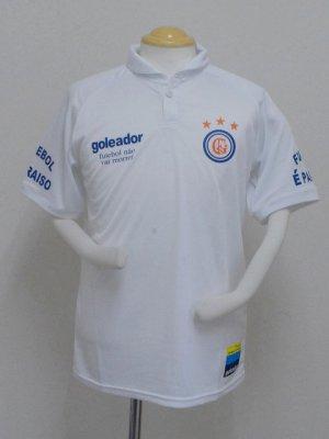 画像1: goleado ラウンドカラープラポロシャツ ホワイト