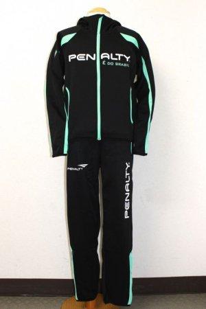 画像1: PENALTY トレスウェットパーカー&パンツ ブラック