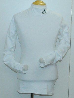 画像1: adidas ウォームコンプレッションインナーシャツ ホワイト
