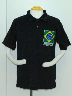 画像1: JOGARBOLA クールMAXポロシャツ BLK