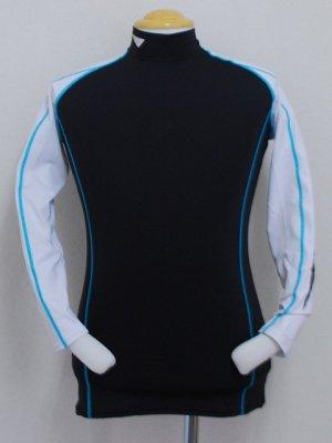 画像1: PENALTY プロ・コンプレッションインナーシャツ ホワイト×ブラック