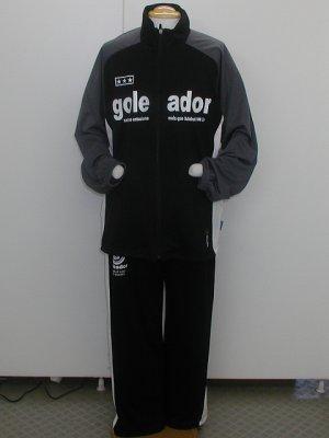画像1: goleador トレーニングスーツ上下セット ブラック