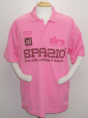 画像1: SPAZIO BENE SPAZIOロゴ PE ポロシャツ ライトピンク