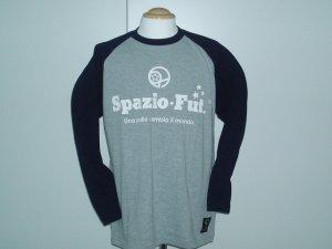 画像1: SPAZIO DiscoロングTシャツ グレー×ネイビー