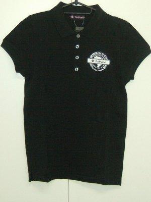画像1: DalPonte レディースポロシャツ201 ブラック