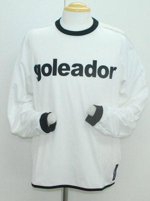 画像1: goleador ポリエステルロングプラシャツ ホワイト