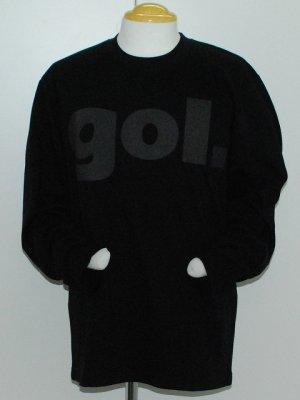 画像1: gol. デカロゴ長袖Tシャツ ブラック