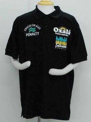 画像1: PENALTY オシャラポロシャツ ブラック