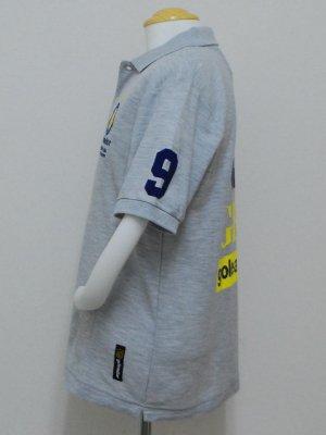 画像3: goleador 鹿の子No.9ポロシャツ グレー