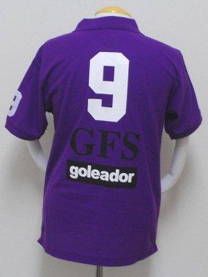 画像2: goleador 鹿の子No.9ポロシャツ パープル